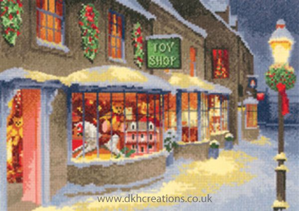 Christmas Toy Shop Cross Stitch Kit
